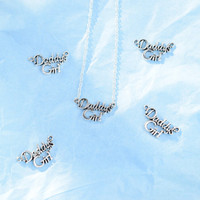 Daddy's Girl thin silver chain necklace ~ daddy ddlg baby girl necklace