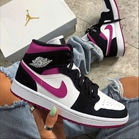 Air Jordan 1 Mid AJ1 high-top casual sports basketball shoes sneakers