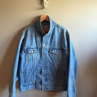 Levi's// Vintage 70s 80s Red Tab Jean Jacket Denim Size Large Faded Worn Rugged Distressed Hipster Grunge Well Worn