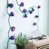 Boho In Rose and Columns String Lights in Purple by ModCloth