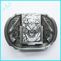 Brand:e&b New Western Guns Belt Buckle with Tiger Lighter Lt-016as   AihaZone Store