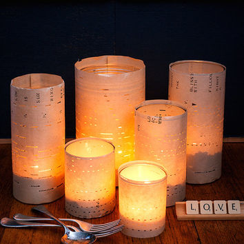DIY table lights for romantic wedding decorations - DIY craft kit for music theme wedding