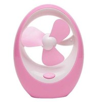 ABS Silent Cartoon USB Mango Portable Cooling Fan    Pink