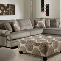 Gaylord Left Arm Sofa & Right Arm Chaise Sectional (Gaylord Collection) in Living Room at Gardner-White Furniture