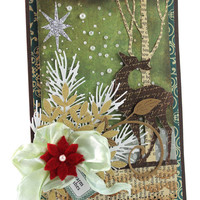 Merry Christmas Card, Blessed Christmas Card - Deer, Christmas Cards - Handmade Christmas Cards - Holiday Cards - Warm Wishes Card