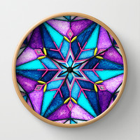 Stained Snowflake. Wall Clock by Emiliano Morciano (Ateyo)