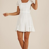 The New Girl dress in white Produced By SHOWPO
