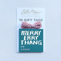 Silver Foil Holiday Gift Tags