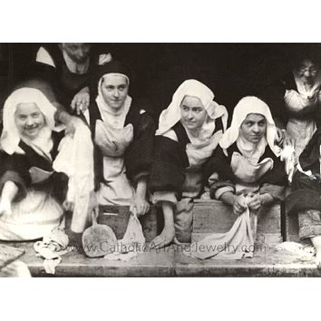 Therese and the Carmelite Nuns on Wash Day Print