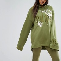 Puma X Fenty Graphic Embellished Hoodie at asos.com