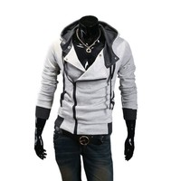 Partiss Mens Zipper Hoodie (m, Light Gray)