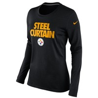 Nike Pittsburgh Steelers Ladies Steel Curtain Local Long Sleeve T-Shirt - Black