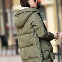 new arrivals fashional plus size m-xxxl women hoody long style warm winter coat women = 1932067908