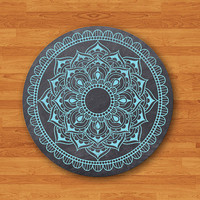 Blue Mint Mandala Draw on Black Chalk Board Mouse Pad Electronics Pads Gift For Teacher MousePad Office Desk Deco New Year Painting Art Gift