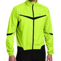 Pearl Izumi Men's Elite Barrier Jacket,Screaming Yellow/Black,Medium