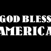 God Bless America decal car decal window decal God Bless America custom vinyl decal Religious decal
