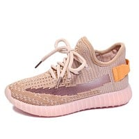 Fashion Lace-Up Casual Toddler/Little/Big Kid Trendy Sport Trainers Sneakers