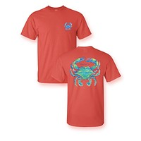 Sassy Frass Watercolor Crab Bright Girlie T-Shirt