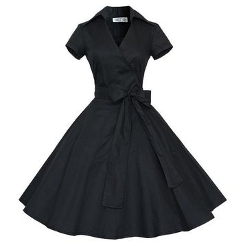 1950's Retro Vintage Bow Tie Cocktail Party Dress -5 Styles-