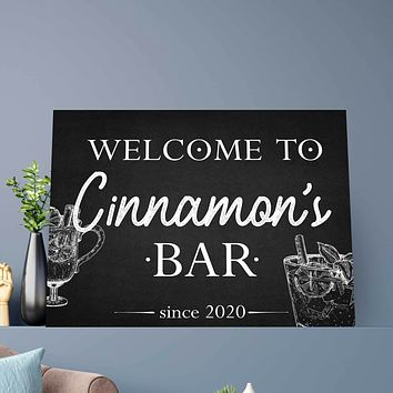 The Bar Custom Canvas Set