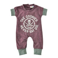Newborn Baby Rompers Summer Cartoon Skull Boys Girls Jumpsuit