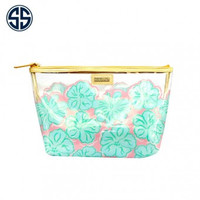 """Simply Southern Clear Cosmetic Bag """"Hibiscus"""""""