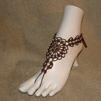 Crochet Barefoot Sandals Star Fish Jewelry Shoes Anklets    Bracelet Rings Shoes Footwear
