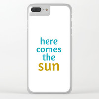 HERE COMES THE SUN Clear iPhone Case by Love from Sophie