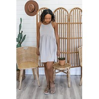 Sweetest Hour Dress - Light Grey