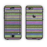 The Colorful Knit Pattern Apple iPhone 6 Plus LifeProof Nuud Case Skin Set