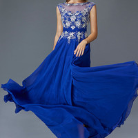 G2056 High Neck Cap Sleeve Prom Mother of the Bride Dress Evening Gown