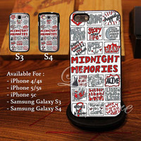 One Direction Midnight Memories Collage Arts Design for iPhone 4, iPhone 4s, iPhone 5, Samsung Galaxy S3, Samsung Galaxy S4 Case