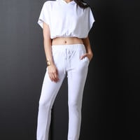 Jersey Knit Pocketed Drawstring Joggers