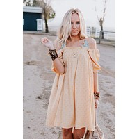 Change In Time Tunic Dress - Mustard
