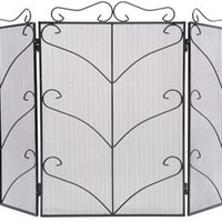 Antique Style Iron Fire Screen