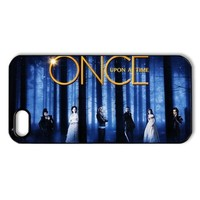 CTSLR TV Show Once Upon A Time Hard Case Cover Skin for Apple iPhone 5/5s- 1 Pack - Black/White - 2- Perfect Gift for Christmas