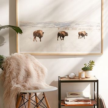 Michael O'Neal Bison Crossing Art Print | Urban Outfitters