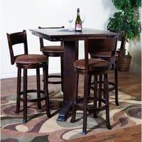 Sunny Designs Santa Fe Collection Three Piece Dining Set In Dark Chocolate