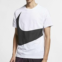 NIKE New fashion hook print top t-shirt White