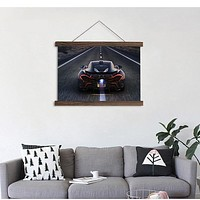 HD Black Bright Car Background Canvas Painting