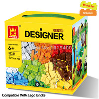 625pcs lot Kids DIY Toys Educational Building Blocks Compatible With Lego Bricks Parts Boys Early Learning Plastic Assembly Toys