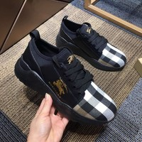 BURBERRY Leisure fashion low-top shoes-4