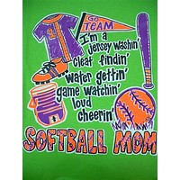 SALE Southern Chics Funny Softball Mom 3 Sweet Girlie Bright T Shirt