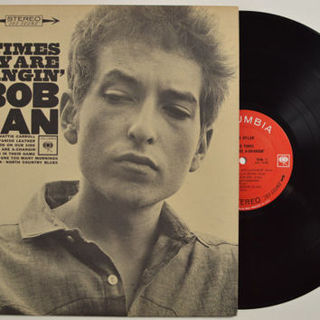 "BOB DYLAN - ""The Times They Are A Changin"" vinyl record"