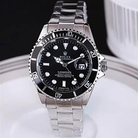 Rolex classic fashion men's and women's steel band watches