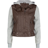 LAST KISS Hooded Faux Leather Womens Jacket 194960400 | jackets & vests | Tillys.com