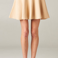 TAUPE FLARED PARTY SKIRT