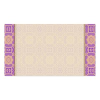 Geometric Floral in Purple and Orange Business Card