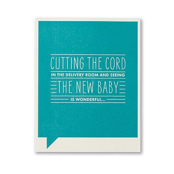 New Baby Greeting Card - Cutting the Cord in the Delivery Room