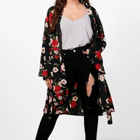 Plus Kerry Floral Belted Kimono | Boohoo